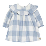 Baby Girls Cornflower Checked Dress