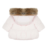 Baby Girls Pale Pink Down Jacket with Bows