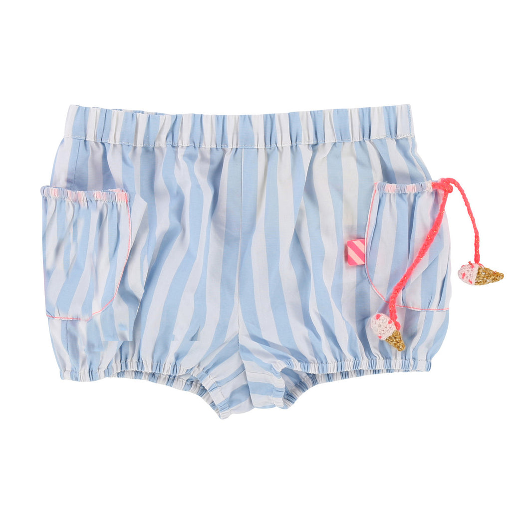 Baby Girls Poplin Striped Shorts