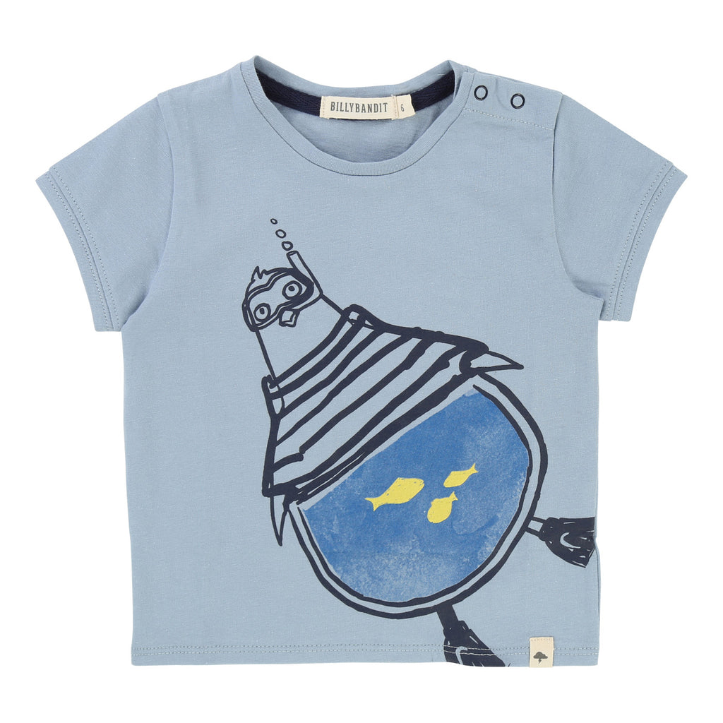 Baby Boys T-shirt with Snorkling Penguin