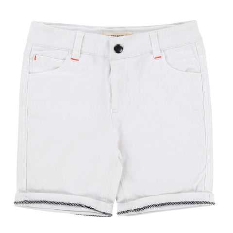 Boys Rolled-Cuffs Denim Shorts