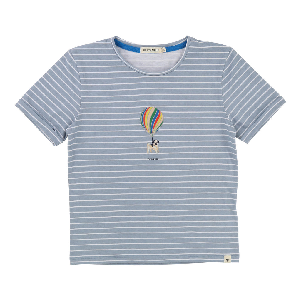 Boys Cotton T-Shirt with Flying Dog with Balloon
