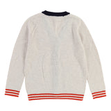 Boys Ivory Knit Cardigan