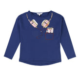 Girls Trompe-L'Oeil Headphone Long-Sleeve Tee