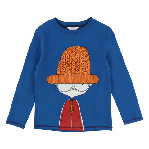 Boys Royal Blue Mister Marc Long-Sleeve Tee