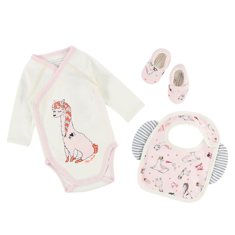 Baby Girls Llama Illustrated Essentials Set