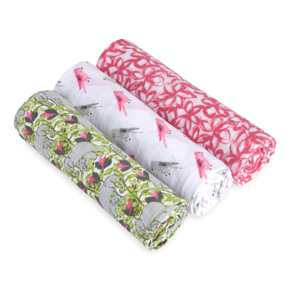 3-Pack Classic Swaddles - Paradise
