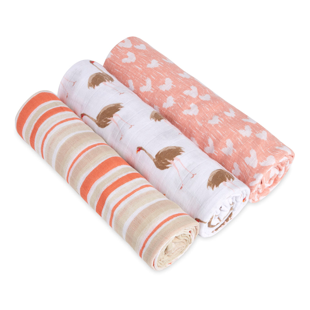 3-Pack Classic Swaddles - Flock Together