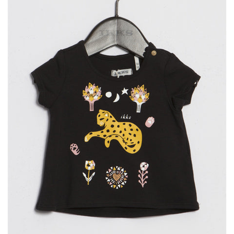 Baby Girls' Black T-shirt
