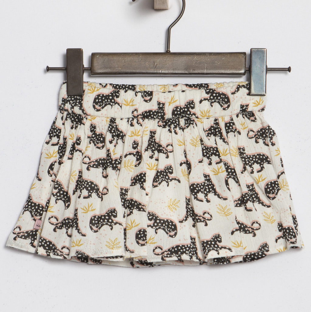 Girls' All Over Tiger Print Skirt