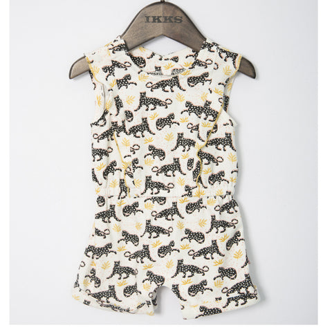Baby Girl Tiger Short Romper