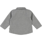 Baby Boy Poplin Button Down Shirt with Check Pattern