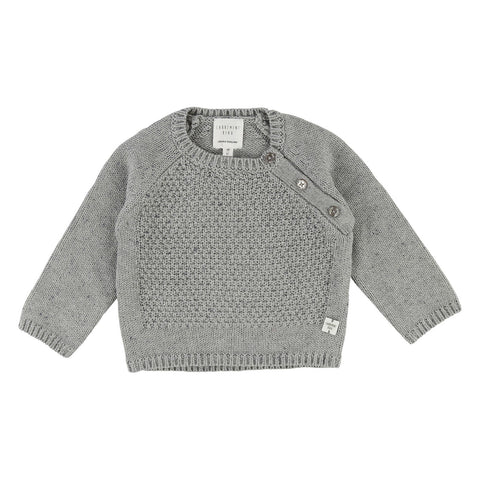 Baby Boy Knit Sweater with Buttoned Shoulder