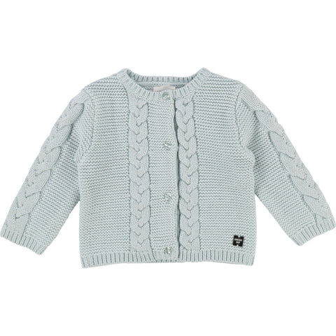 Baby Girls Lurex Thread Cotton Knit Cardigan