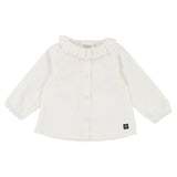 Baby Long Sleeve Blouse with Ruffle Collar