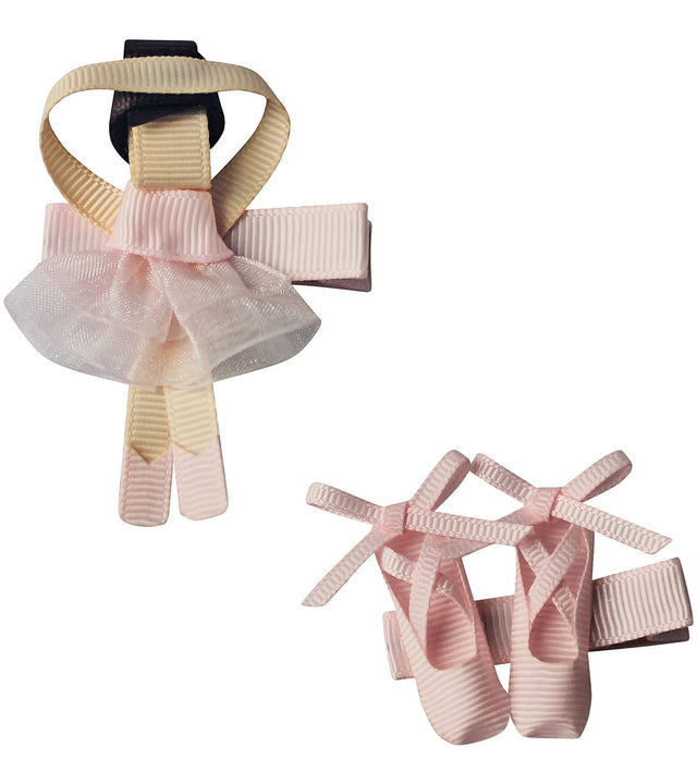 Girls Ballerina Clips Set ( Ballerina & Shoes)