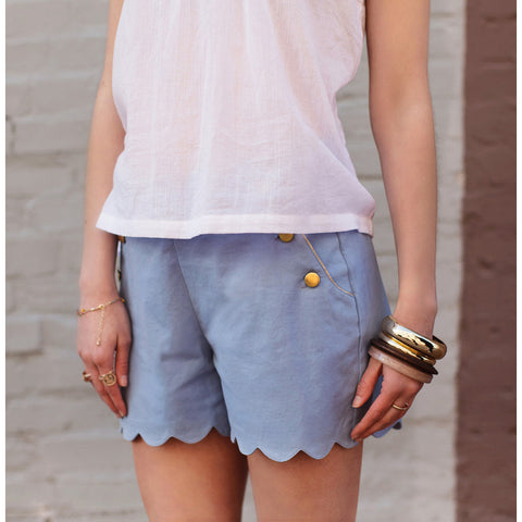 Women's Berthe Shorts - Porcelaine Blue