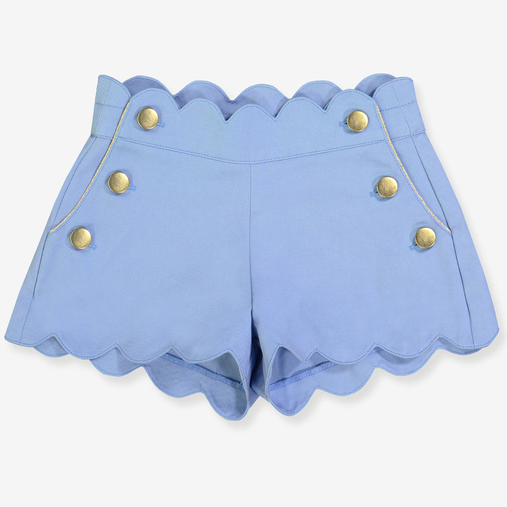 Girls Berthe Shorts - Porcelaine Blue