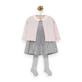 Baby Girls Pale Pink Floral Cardigan