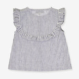 Girls Claudette Blouse - Grey Stripes