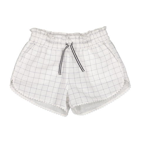 Girls Colombe Shorts - Charcoal Squares