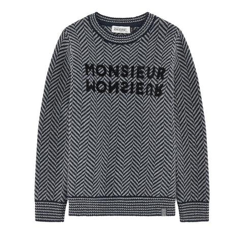 Boys Herringbone Woollen Sweater