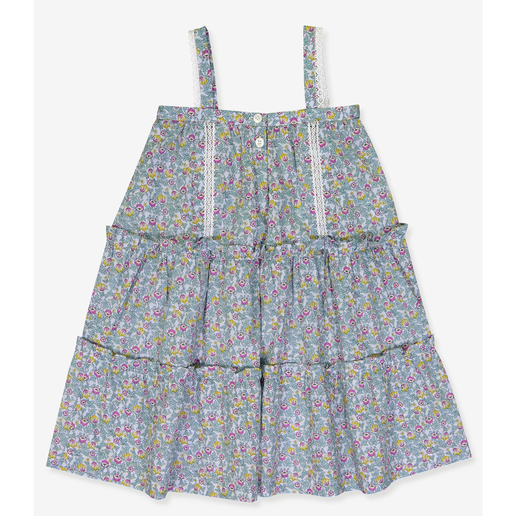 Girls Eugenie Dress - Summer Garden Print