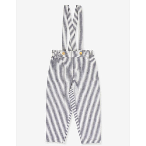 Boys Gabriel Pants - Grey Stripes
