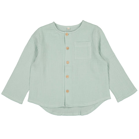 Gaston Top - Mint Gauze