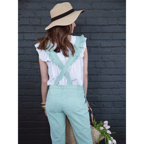 Women's Georgette Overall - Celadon Green