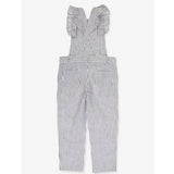 Girls Georgette Overall - Grey Stripes