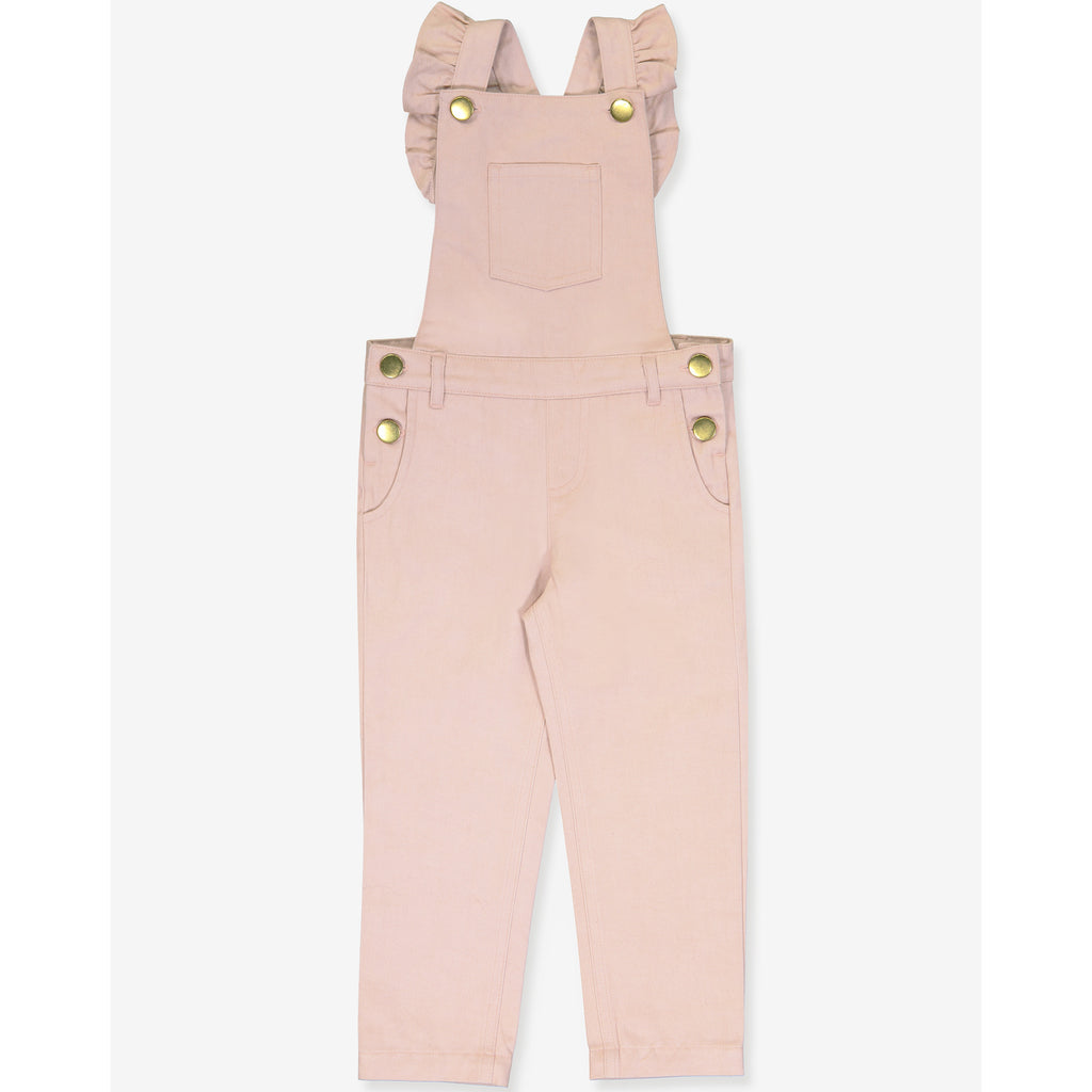 Girls Georgette Overall - Powder Rose