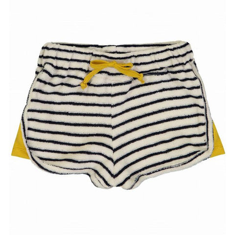 Love Boat Striped Looped Fleece Shorts