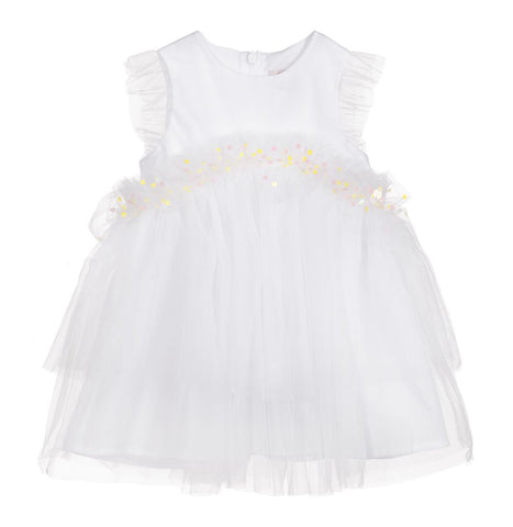 Girls White Tulle Dress
