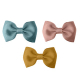 Girls Bowtie Bow Clips ( Pack of 3)