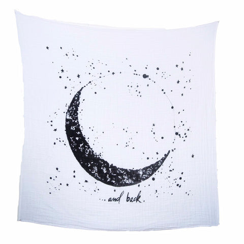 Organic Cotton Swaddle Tapestry - Moon and Back
