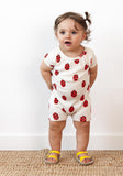 Organic Cotton Lady Bug Romper