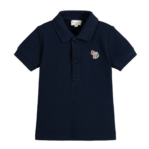 Baby Boys Navy Zebra Polo Shirt