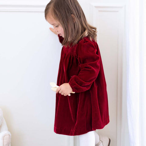 Baby Girls Red Velvet Dress