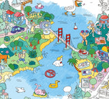 Large Coloring Poster - San Francisco