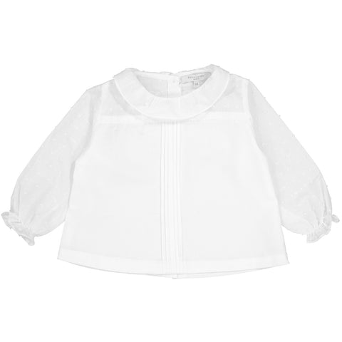 Girls Suzon Blouse - Chalk