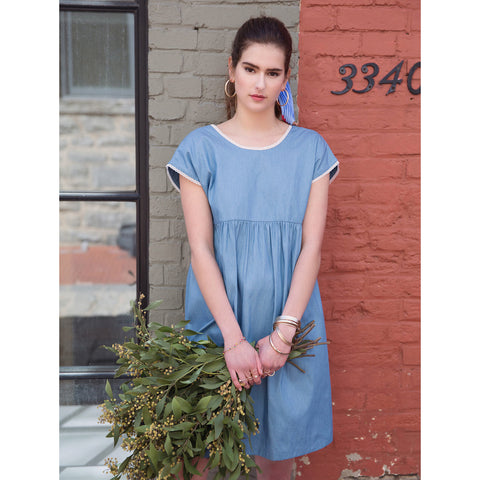 Women's Verlaine Dress - Cotton Denim