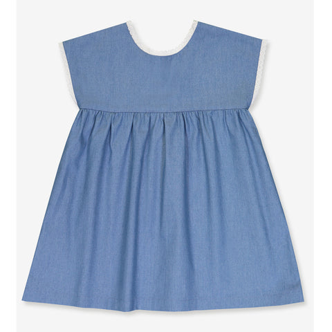Girls Verlaine Dress - Cotton Denim