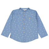 Boys Vivien Shirt - Birds Denim