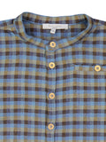 Boys Vivien Shirt - Blue and Brown Checks