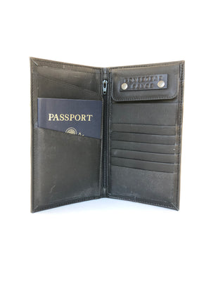 Passport Travel Wallet silver croc front view