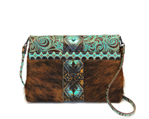 Luxury Leather Clutch Owl Creek Pass II front view