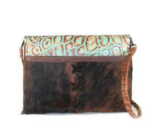 Western Purses, both a clutch and a crossbody - The Owl Creek Pass III front view