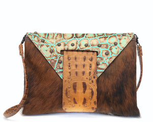Luxury Leather Clutch Owl Creek Pass III front view