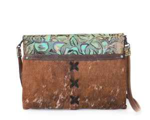 Luxury Leather Clutch Owl Creek Pass IV front view